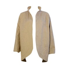 Fendi Gray Cotton Quilted  Clutch Coat, Size 38, Circa 1980