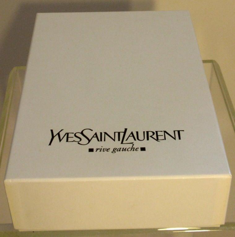 Yves St Laurent Black Bandage Corset Belt w/Patent Leather Trim xs 10