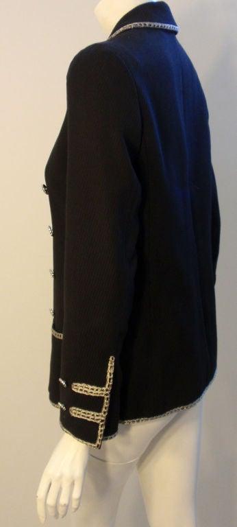 Chanel Navy Blue Blazer With Silver Trim, Circa 1990 5