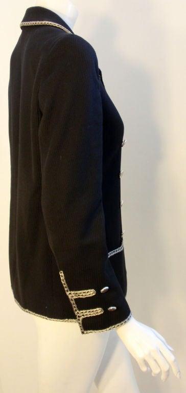 Chanel Navy Blue Blazer With Silver Trim, Circa 1990 6