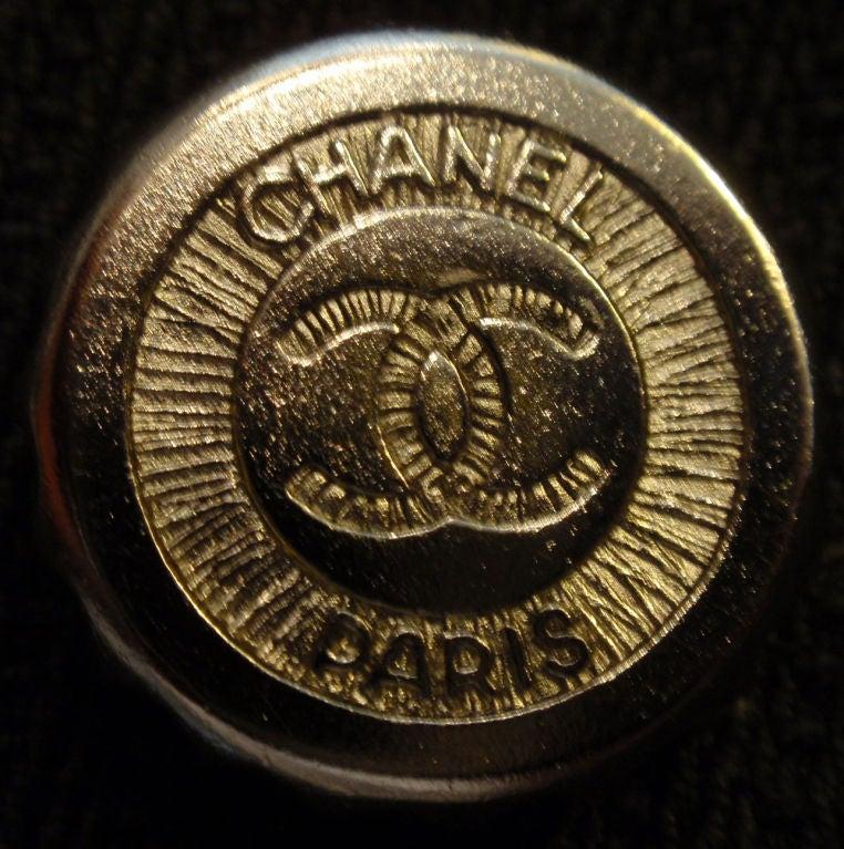 Chanel Navy Blue Blazer With Silver Trim, Circa 1990 10