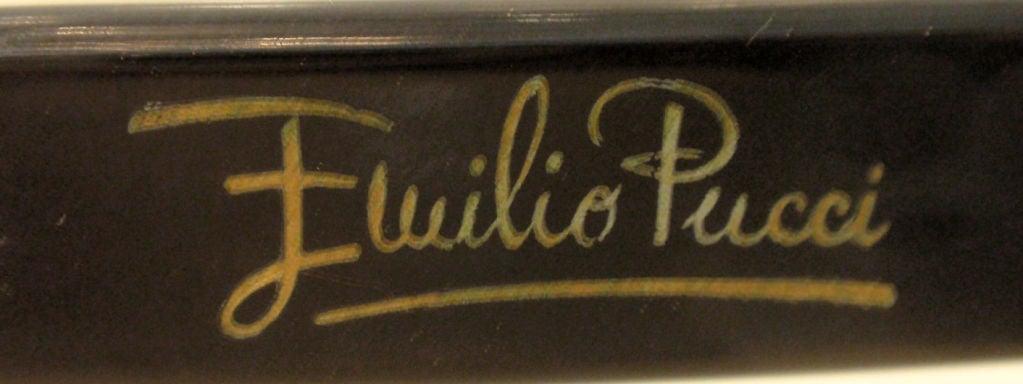 Emilio Pucci Blue Purple Aqua Mod Square Signature Print Sunglasses, 1960's 2