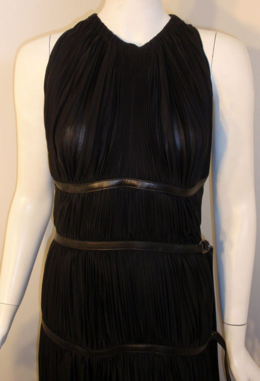 Prada Long Black Pleated Dress, Circa 1990 4