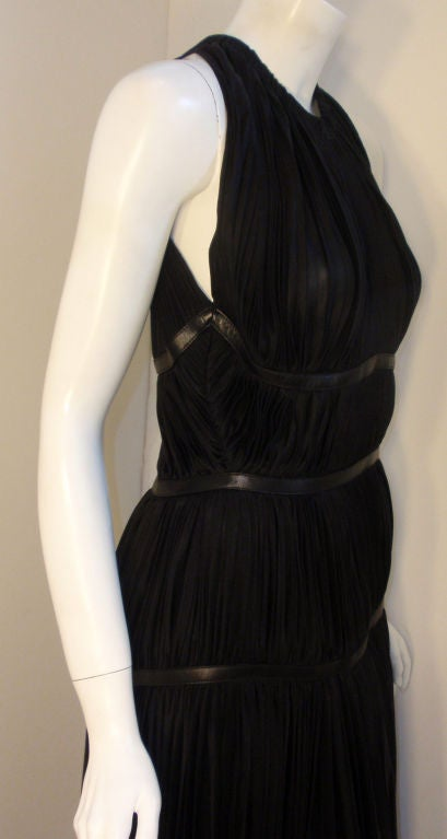 Prada Long Black Pleated Dress, Circa 1990 5