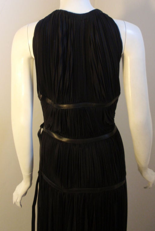 Prada Long Black Pleated Dress, Circa 1990 6