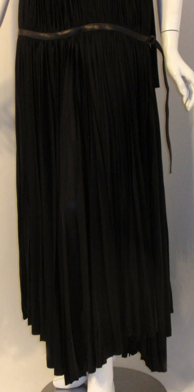 Prada Long Black Pleated Dress, Circa 1990 7