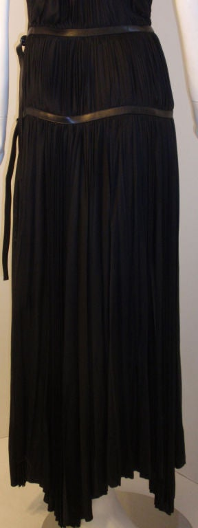 Prada Long Black Pleated Dress, Circa 1990 8