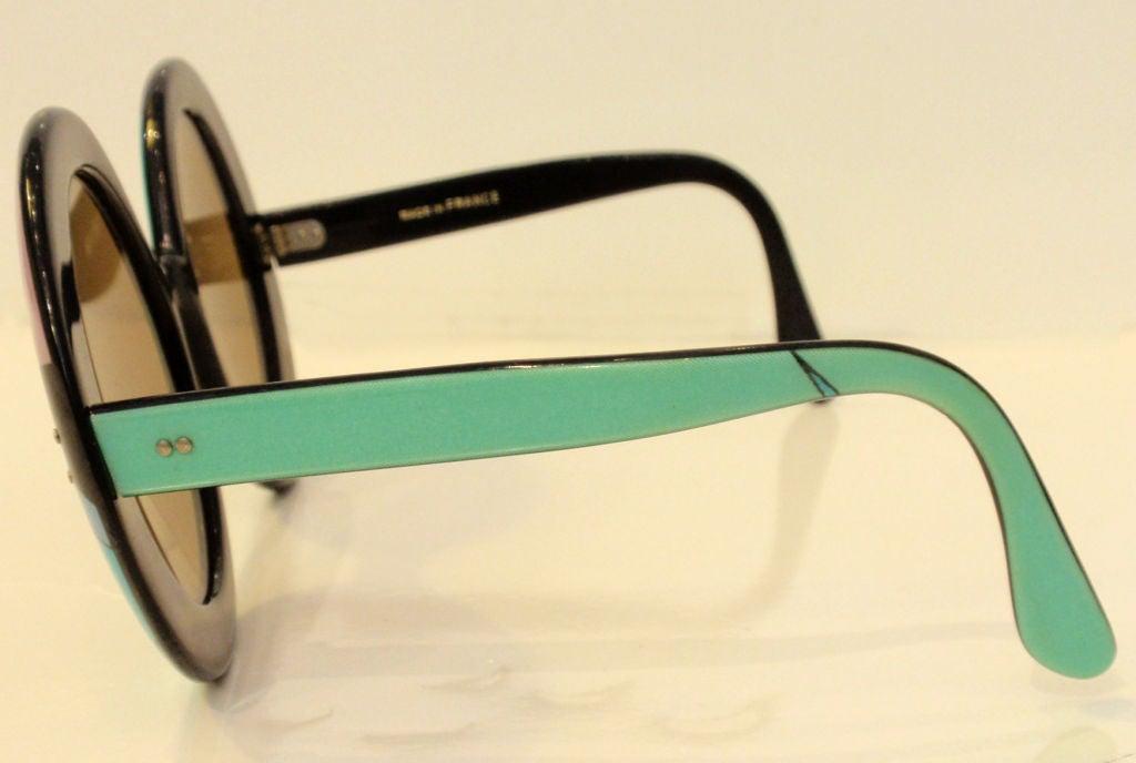 Emilio Pucci Large Round Mod Signature Print Sunglasses, 1960 3