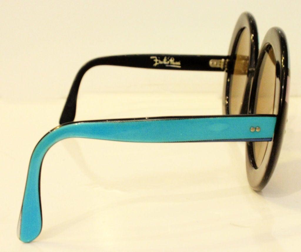 Emilio Pucci Large Round Mod Signature Print Sunglasses, 1960 4