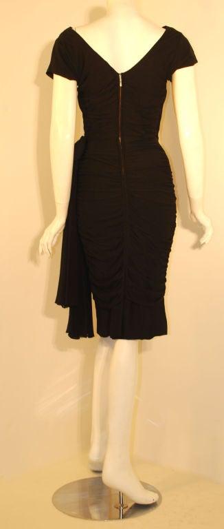 Ceil Chapman  Black Vintage Cocktail Dress, 1950 5