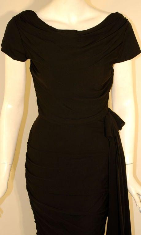 Ceil Chapman  Black Vintage Cocktail Dress, 1950 6