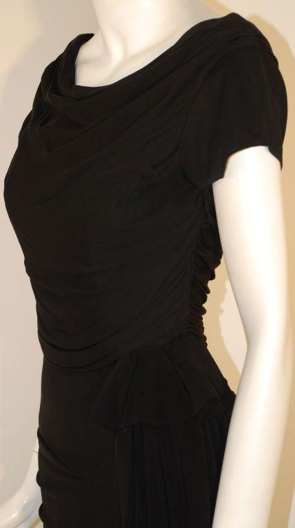 Ceil Chapman  Black Vintage Cocktail Dress, 1950 7