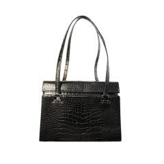 Renaud Pellegrino Vintage Black Alligator Handbag, Circa 1990
