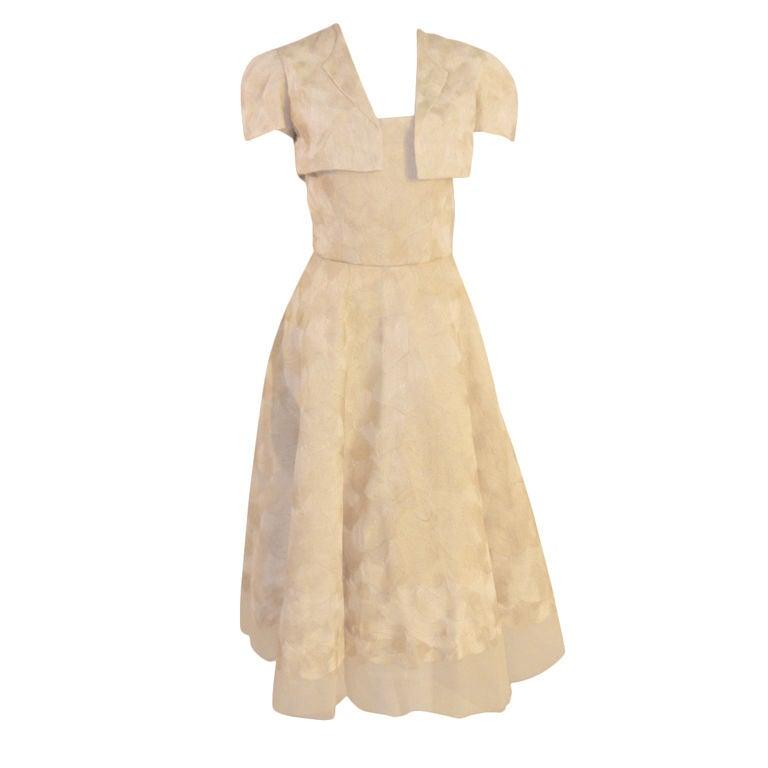 Elizabeth Mason Couture Strapless Dress w/ Bolero Jacket