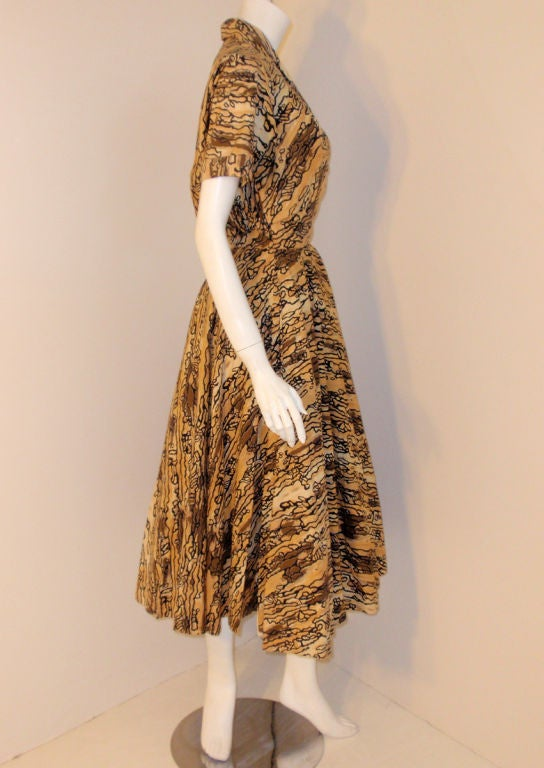 Ceil Chapman Vintage 2 pc Halter Dress w/ Bolero Jacket,  c 1950 5
