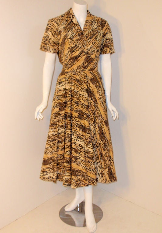 Ceil Chapman Vintage 2 pc Halter Dress w/ Bolero Jacket,  c 1950 4