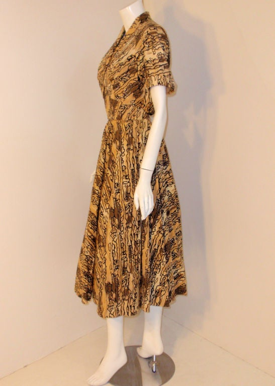 Ceil Chapman Vintage 2 pc Halter Dress w/ Bolero Jacket,  c 1950 6