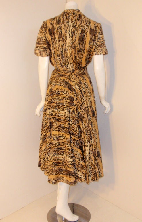 Ceil Chapman Vintage 2 pc Halter Dress w/ Bolero Jacket,  c 1950 7
