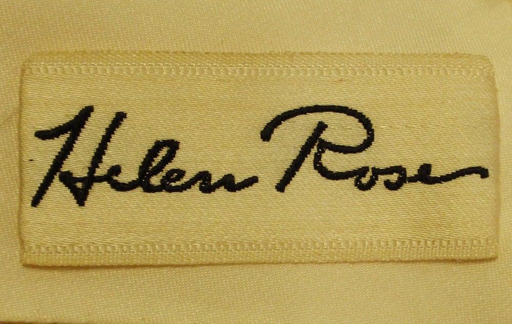 Helen Rose Vintage Ivory Gown w/ Rhinestone Straps, c. 1960's 3