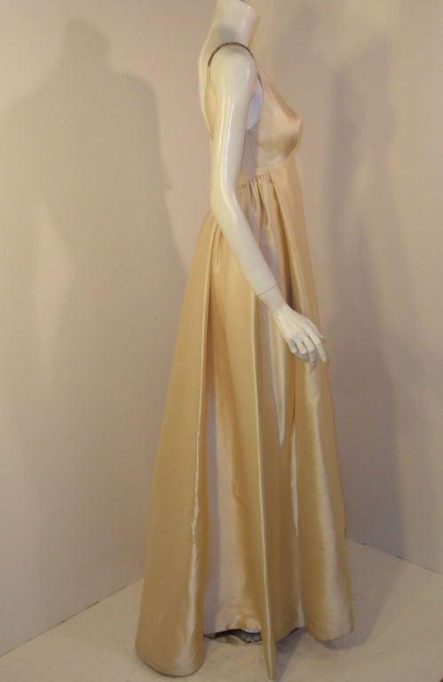 Helen Rose Vintage Ivory Gown w/ Rhinestone Straps, c. 1960's 6