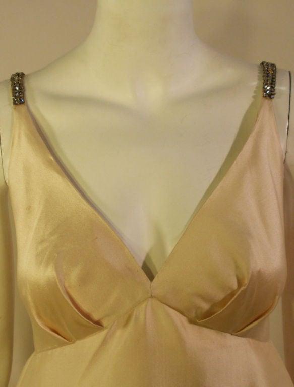 Helen Rose Vintage Ivory Gown w/ Rhinestone Straps, c. 1960's 7