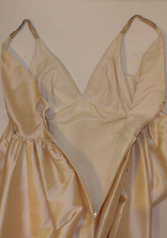 Helen Rose Vintage Ivory Gown w/ Rhinestone Straps, c. 1960's 10