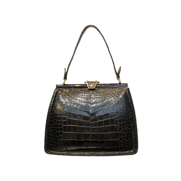 1stdibs Vintage 1960s Lucille De Paris Kelly Handbag Purse dfiCc
