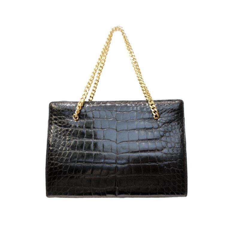 1stdibs Lucille De Paris Tan Crocodile Handbag eAfEustbP