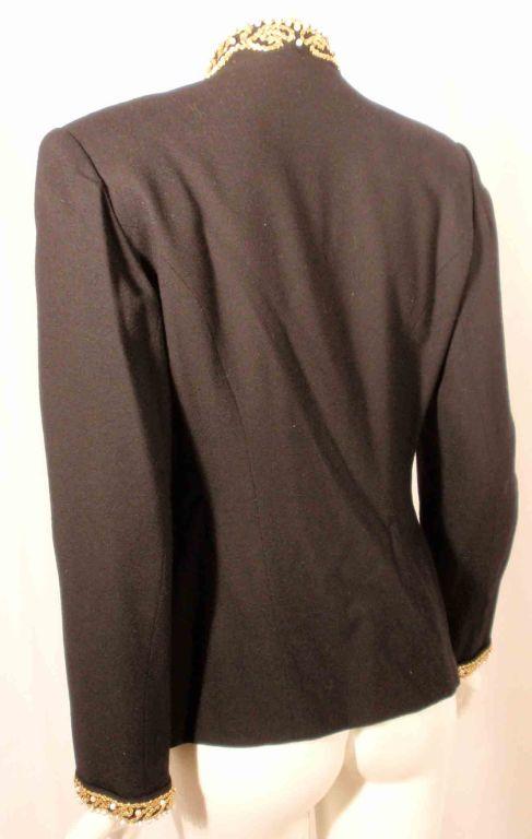Adolfo Black Jacket w/Gold Trim For Sale 2