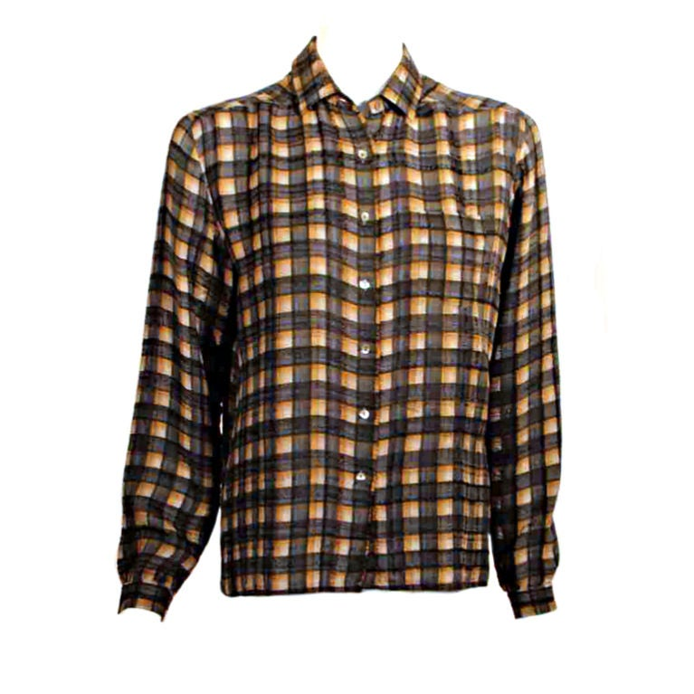Zelda Front Pocket Plaid Blouse 7