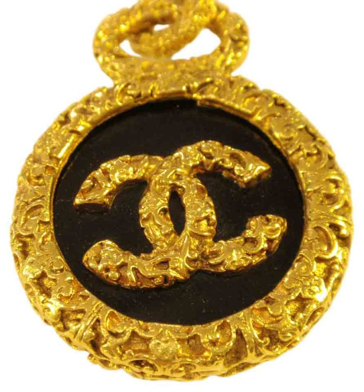 """Chanel Gold Baroque Chain Link Belt with """"CC"""" Logo 9"""