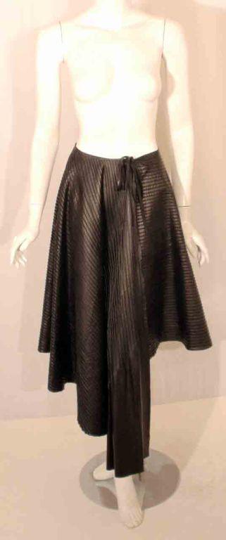Fendi Black Leather Wrap Skirt At 1stdibs