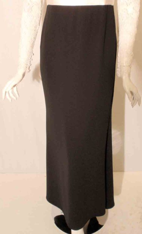 1990's Badgley Mischka Black and White Long Sleeve Gown For Sale 6