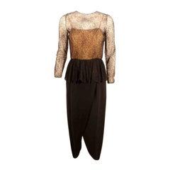 Jean Louis Black Lace Cocktail Dress