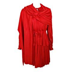 Geoffrey Beene Red Jersey Knit 3 Pc Ensemble, Skirt, Top, Wrap