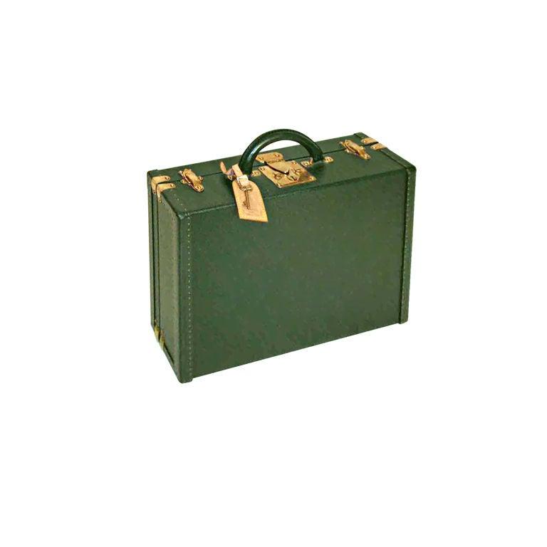 Louis Vuitton Dark Green Leather Briefcase 1
