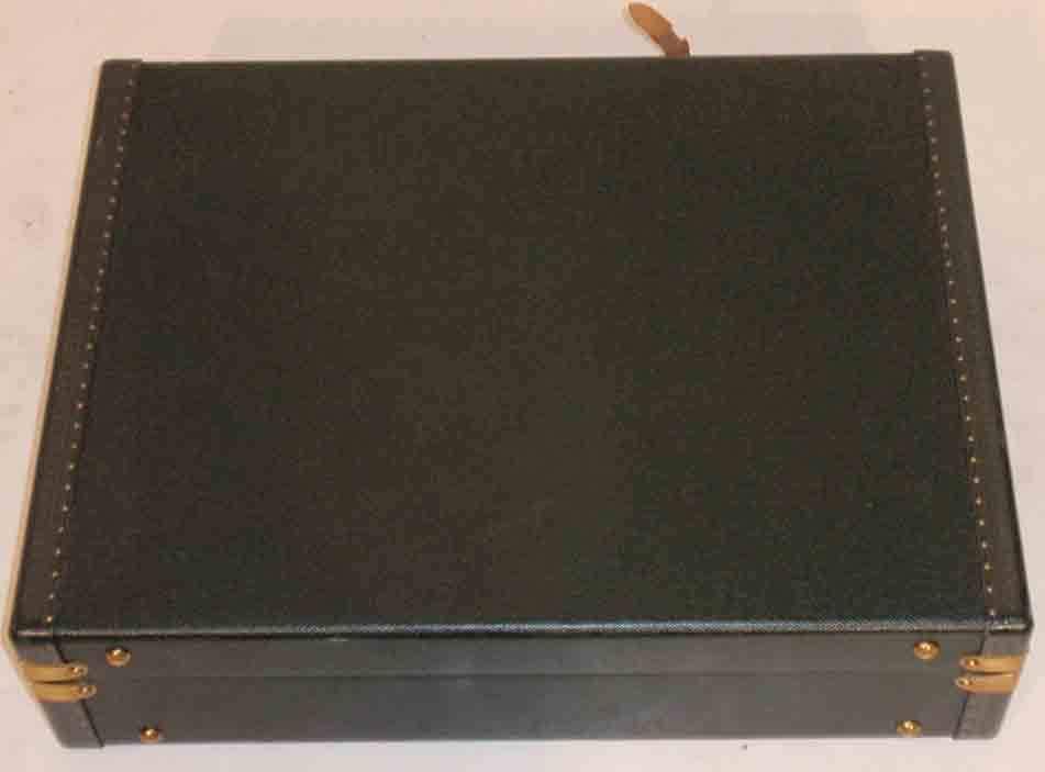 Louis Vuitton Dark Green Leather Briefcase 5