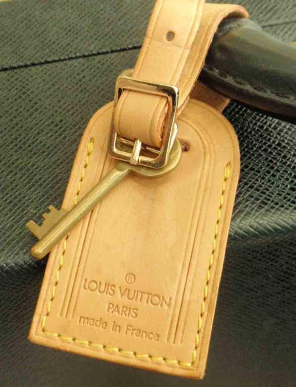 Louis Vuitton Dark Green Leather Briefcase 10