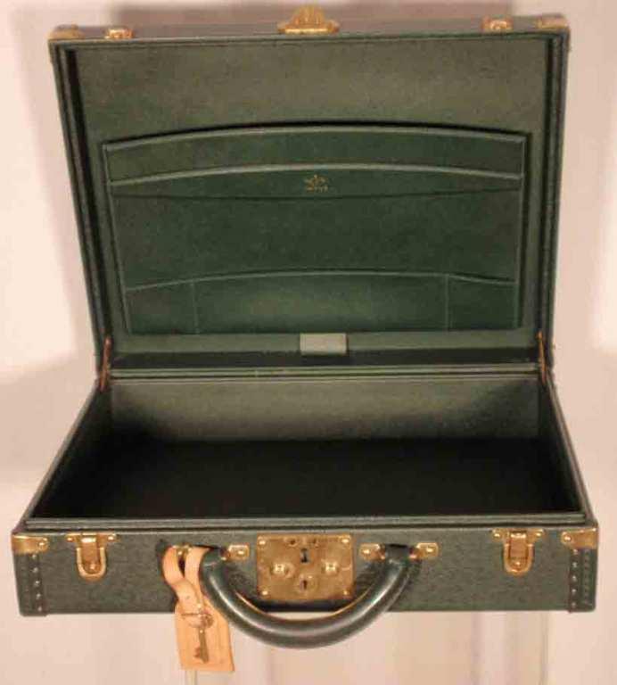 Louis Vuitton Dark Green Leather Briefcase 6