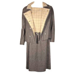 Maggie Rouff 2pc Wool Coat and Dress Set