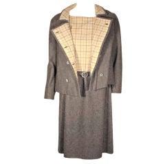 Maggie Rouff 2pc Wool Coat and Dress Set
