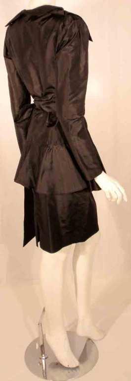 Adolfo Black Silk Wrap Dress For Sale 2