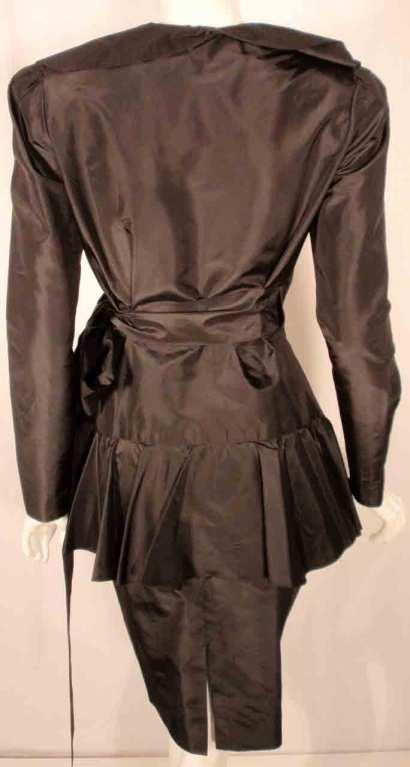 Adolfo Black Silk Wrap Dress For Sale 5