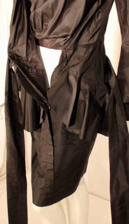 Adolfo Black Silk Wrap Dress For Sale 6