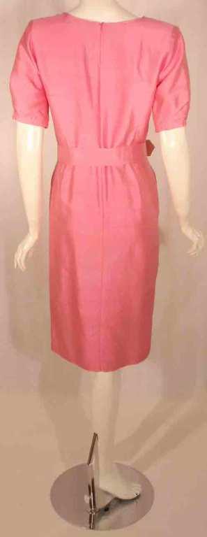Courreges Pink Silk Dress w/Belt For Sale 2