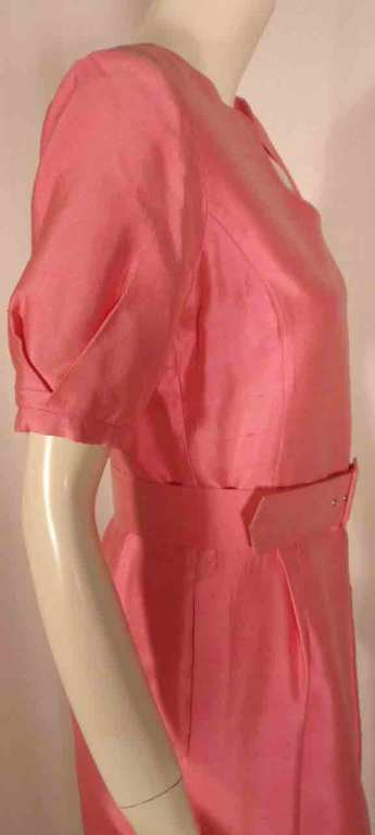 Courreges Pink Silk Dress w/Belt For Sale 4