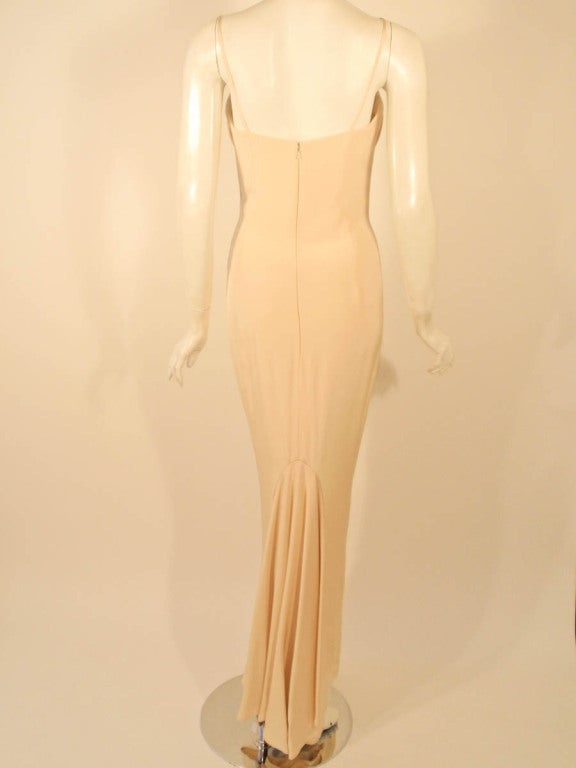 Antony Price 2 pc. Cream Gown & Fitted Jacket with Lace Details 9