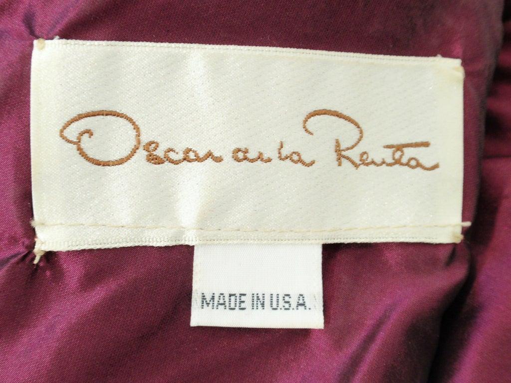 Black Oscar de la Renta Green, Purple, Pink Gown w/ Beaded Bodice For Sale