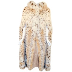 Max Reby Tigre Royal Geneve Lynx Fur Full length Cape with hood