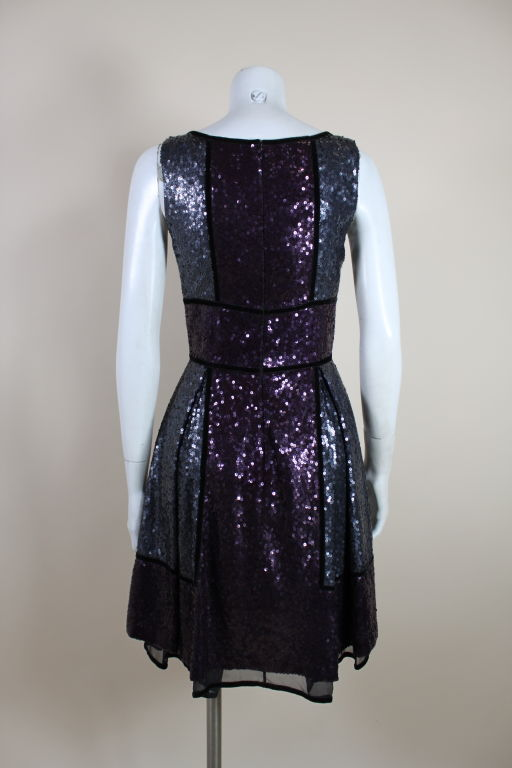 Naeem Khan Color-Block Sequined Party Dress 5
